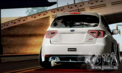 Subaru Impreza WRX Camber pour GTA San Andreas vue de dessus