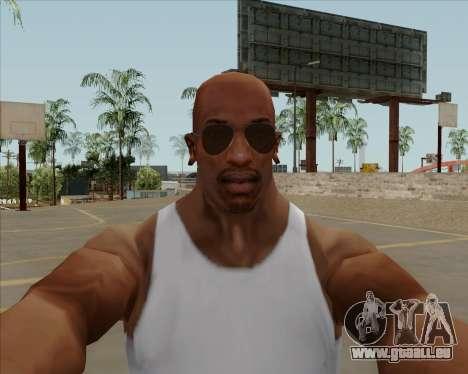 Braun brille Flieger für GTA San Andreas dritten Screenshot