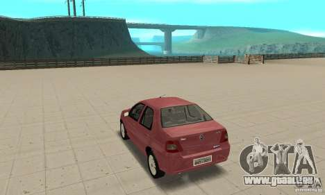Fiat Siena HLX 1.8 Flex pour GTA San Andreas laissé vue