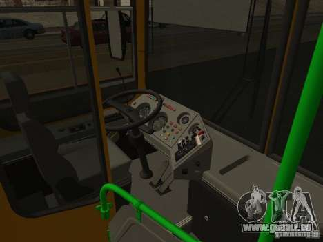 LIAZ 5256.26-01 pour GTA San Andreas vue intérieure