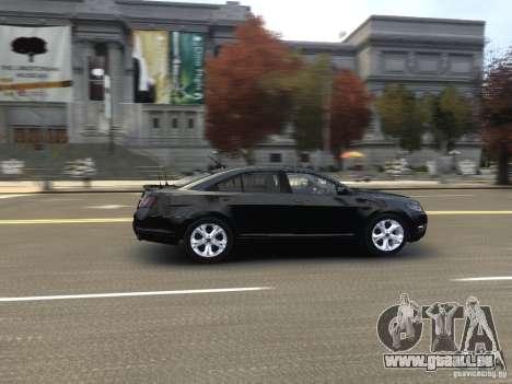 Ford Taurus FBI 2012 pour GTA 4 est une vue de l'intérieur