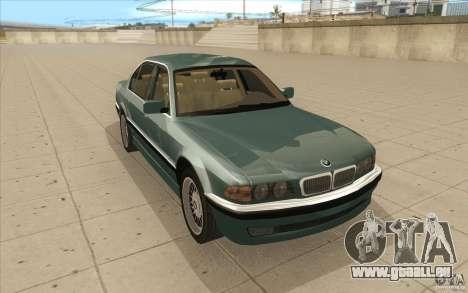 BMW 750iL 1995 für GTA San Andreas Rückansicht