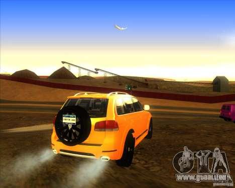 Volkswagen Touareg R50 für GTA San Andreas zurück linke Ansicht