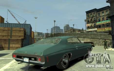 Chevrolet Chevelle SS 454 v2 pour GTA 4 est un droit