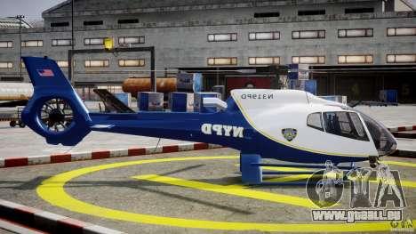Eurocopter EC 130 NYPD pour GTA 4 est une vue de l'intérieur