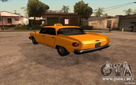 Glendale Cabbie für GTA San Andreas linke Ansicht
