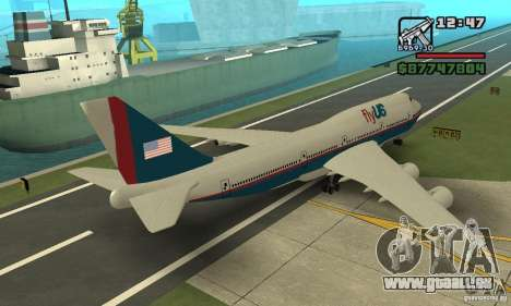 Flugzeuge von GTA 4 Boeing 747 für GTA San Andreas linke Ansicht