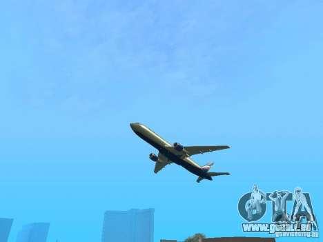 Boeing 767-300 Aeroflot pour GTA San Andreas vue arrière