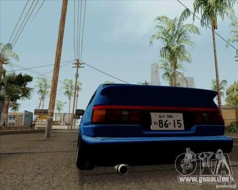 Toyota Sprinter Trueno AE86 JDM pour GTA San Andreas vue arrière
