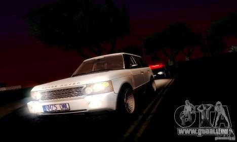Range Rover Supercharged für GTA San Andreas Rückansicht