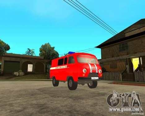 UAZ-pompiers pour GTA San Andreas vue arrière