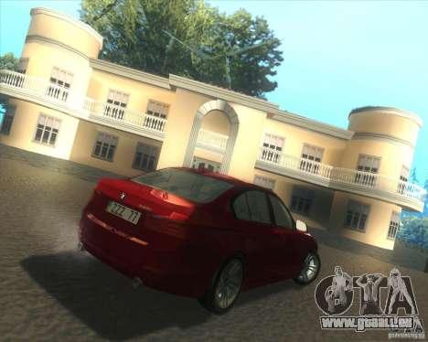 BMW 3 Series F30 2012 pour GTA San Andreas vue de droite