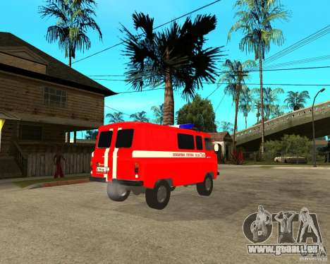 UAZ-pompiers pour GTA San Andreas vue de droite