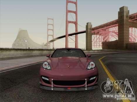 Porsche Panamera Turbo 2010 pour GTA San Andreas vue de dessous