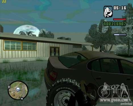 Pneus de rechange pour GTA San Andreas deuxième écran
