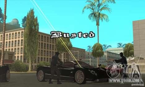 Pagani Zonda F Speed Enforcer BETA pour GTA San Andreas vue de dessus