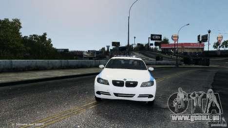 NYPD BMW 350i für GTA 4 Rückansicht