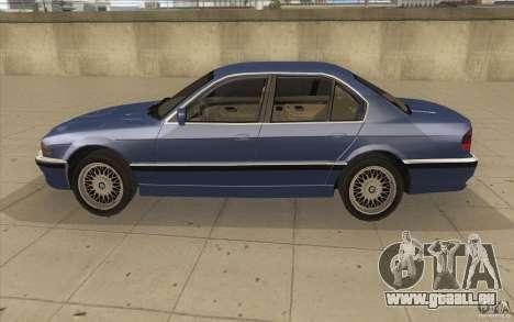 BMW 750iL 1995 pour GTA San Andreas laissé vue