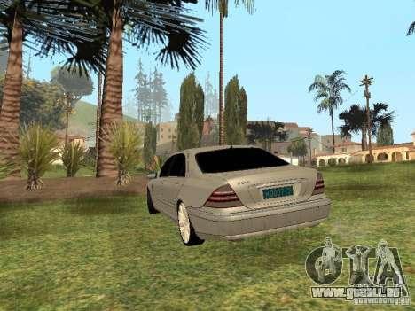 Mercedes-Benz S600 w200 für GTA San Andreas linke Ansicht