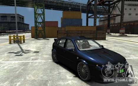 Seat Leon Cupra R pour GTA 4 Vue arrière