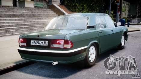 GAZ 31105 für GTA 4 obere Ansicht
