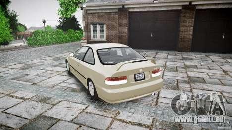 Honda Civic Coupe pour GTA 4 est un côté