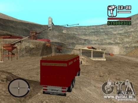 Ford Cargo 3227 pour GTA San Andreas sur la vue arrière gauche