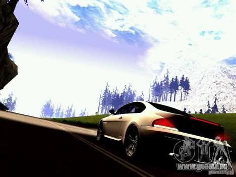BMW M6 MotoGP SafetyCar pour GTA San Andreas vue de droite