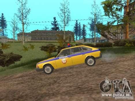 2141 AZLK GAI pour GTA San Andreas sur la vue arrière gauche