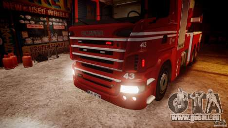 Scania Fire Ladder v1.1 Emerglights red [ELS] pour GTA 4 est un côté
