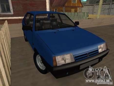 VAZ 2109 Drain pour GTA San Andreas sur la vue arrière gauche