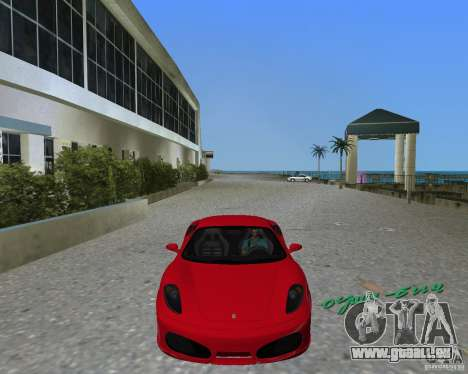 Ferrari F430 pour GTA Vice City sur la vue arrière gauche