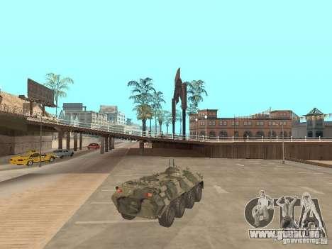 BTR 80 pour GTA San Andreas sur la vue arrière gauche