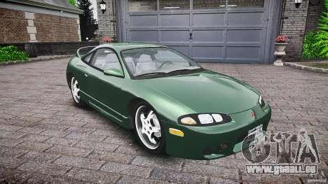 Mitsubishi Eclipse 1998 pour GTA 4 est une vue de l'intérieur