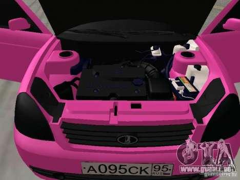 Lada Priora Emo für GTA San Andreas Innenansicht