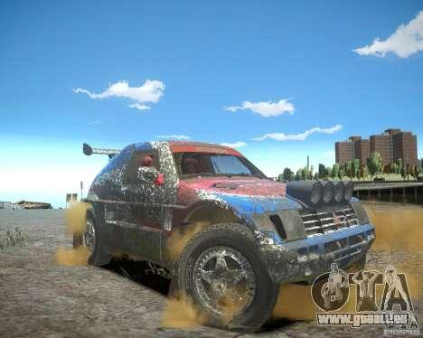 Mitsubishi Pajero Proto Dakar EK86 pour GTA 4 Salon