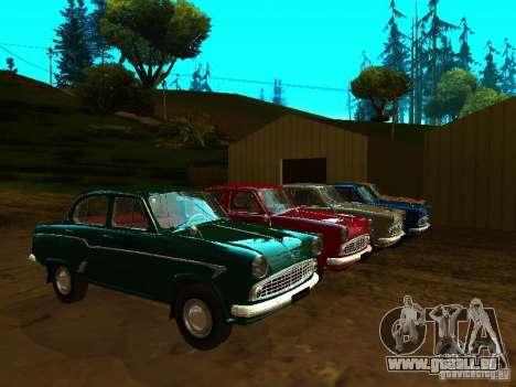 Moskvich 403 Taxi pour GTA San Andreas vue intérieure