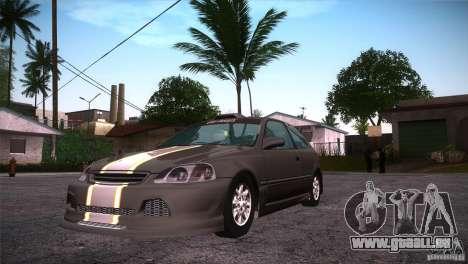 Honda Civic Tuneable pour GTA San Andreas vue intérieure