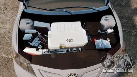 Toyota Camry Altise 2009 pour GTA 4 est une vue de l'intérieur