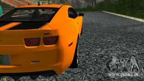 Chevrolet Camaro SS 2010 pour GTA Vice City vue arrière