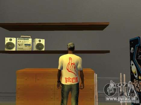 Gangsta T-shirt für GTA San Andreas zweiten Screenshot
