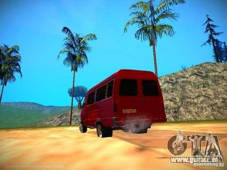 Gazelle 32213 Business v1.0 pour GTA San Andreas salon