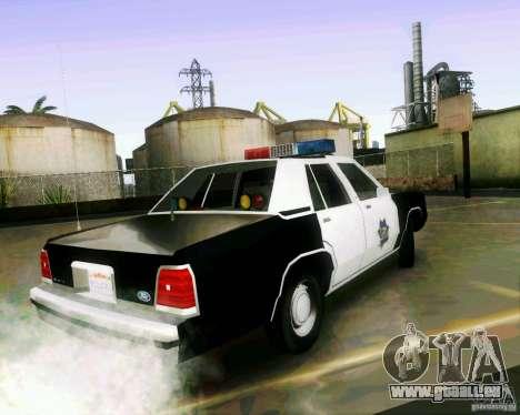 Ford Crown Victoria LTD 1991 SFPD pour GTA San Andreas laissé vue