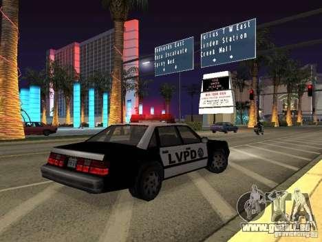 LVPD Police Car pour GTA San Andreas vue de côté