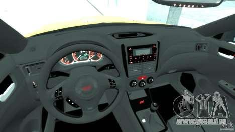 Subaru Impreza WRX STi 2011 Subaru World Rally pour GTA 4 est un droit