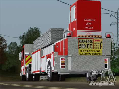 Pierce Arrow XT LAFD Tiller Ladder Trailer pour GTA San Andreas vue de dessous