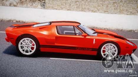 Ford GT 2006 v1.0 pour GTA 4 est une vue de l'intérieur