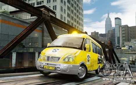 Gazelle 2705 Taxi V 2.0 für GTA 4
