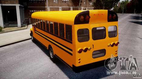 School Bus [Beta] pour GTA 4 Vue arrière de la gauche
