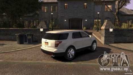 Ford Explorer 2011 für GTA 4 linke Ansicht